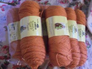 Caron Simply Soft Light Yarn 9 Skeins Matching Dye Lots 3 Oz. Pumpkin