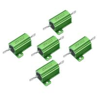 5 Pcs Green 25W 10 Ohm 5% Axial Lead Wirewound Aluminum Case Resistors CP