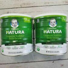 2 Cans Gerber Natura Organic Formula 23.2 oz Stage 3 (12-24 Months) Exp 7/19/20