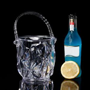Acrylic Ice Container Pattern Ice Bucket With Handle Bar KTV S For Home
