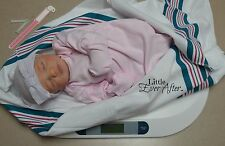 5 piece HOSPITAL SET for Reborn Baby Doll Authentic Newborn PINK gown GIRL real