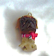 The Dog Artist Collection Pug Red Bow and Bell Christmas Tree Mini Ornament
