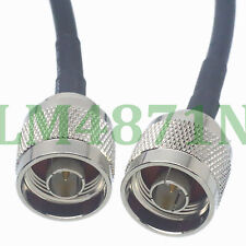 """cable N male plug to N male straight crimp RG58 20"""" pigtail"""