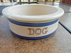 """ROSEVILLE, OHIO USA 7"""" DOG BOWL Stoneware Pottery"""