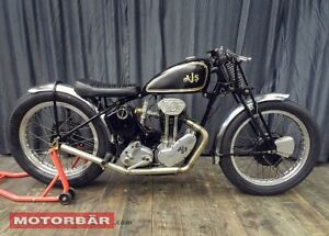 AJS 38 / 22 Oldtimer Motorrad Rennmaschine 1938 England Tony Sutton 38/22