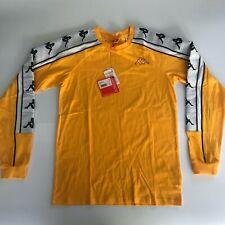 NWT Kappa 222 Banda 10 Araus Long Sleeve Shirt Gold White Black Yellow Size S