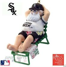 CHICAGO WHITE SOX CLASSIC BASEBALL SANTA BASEBALL @ THE BEACH ORNAMENT NEW STOCK