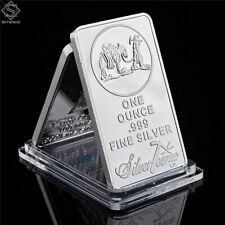 Silver One Ounce 999 Fine Silver Bar Commemorative Prospector