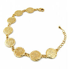 Bijoux Bracelet chaîne de pièces Plaqué Or 18K - Jewelry Bracelet chain of Medal