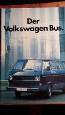 Prospectus Brochure Volkswagen VW Bus t3 1983 Combi Caravelle BUS BUS L Neuf New