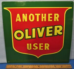 Oliver Tractor Embossed Steel Sign