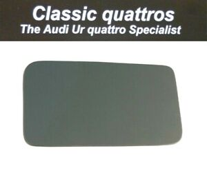 BLUE TINT OFF SIDE SELF ADHESIVE DOOR MIRROR GLASS AUDI UR QUATTRO/COUPE/80/90