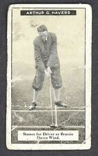1925 IMPERIAL TOBACCO HOW TO PLAY GOLF ARTHUR G. HAVERS #9 SPORT CARD
