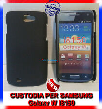 Pellicola + custodia back cover case NERA per Samsung Galaxy W I8150