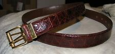 Bottega Veneta Genuine Alligator Belt 44 Brown Italy