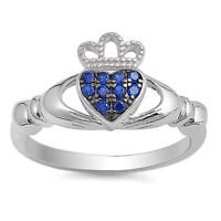 USA Seller Claddagh Ring Sterling Silver 925 Best Jewelry Ruby CZ Size 6