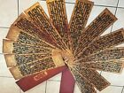 Antique Burmese Lacquered 2 sided Manuscript Prayer Book, 14 pages, Wood covers