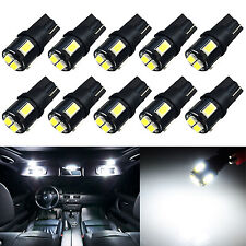 10x 168 175 194 License Map Marker Parking Mirror Corner LED Lights Bulbs White