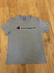 Mens Grey champion T-shirt Size Large Worn Once