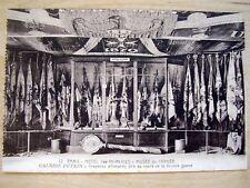 OLD PPC: PARIS~MUSEE DE L'ARMEE~GALERIE PETAIN~DRAPEAUX ALLEMANDS~GERMAN FLAGS