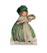 Bethany Lowe St Patrick's Day Irish Girl Vintage Image Dummy Board Decoration
