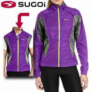 Sugoi Versa 2 In 1 Women's Reflective Running Cycling Jacket / Vest - RRP: £115