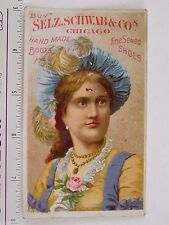 Selz Schwab & Co's Handmade Shoes & Boots Lovely Lady Feathered Hat F58