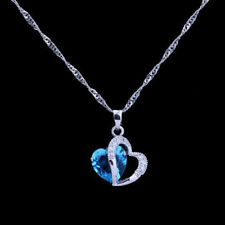 HOT Attractive Design Silver Women  Style Necklace Pendant Blue Stone Selling