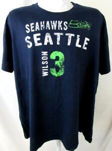 Seattle Seahawks Women Plus Size 2X or 4X Distressed Wilson #3 T-shirt ASSE 153