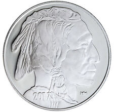 2017 Highland Mint 1 Troy oz. .999 Silver American Indian Buffalo Round SKU45375