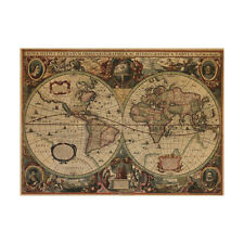 Removable Retro World Map Wall Stickers Living Room Bedroom Decor Wall Sitcker