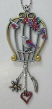 G Birds in bird cage color Car Mirror Charm ornament ganz