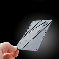 Thin Cardsharp Outdoor Camping Mini Folding Knife Survival Tool Stainless steel
