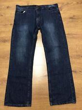 """FIRETRAP Mens Blue Fade Straight Leg Jeans Waist 38"""" Inside Leg 32"""""""