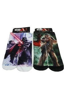 Planet Sox Disney Star Wars Chewbacca and Dart Vader socks boys 6-8 Polyester