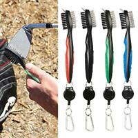 Golf Brush and Club Groove Cleaner with Carabiner - Easily Attaches to Golf Bag