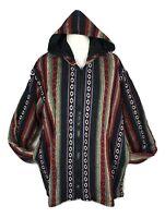 Mens Warm Jacket Hoodie Hippie Festival Fleece Lined Cotton XL/2XL, 3XL/4XL