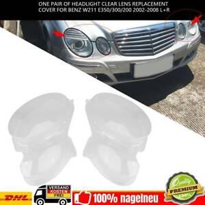 2x Auto Scheinwerfer Glas Streuscheibe Frontscheinwerfer Abdeckung L+R für Benz