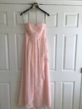 Bridesmaid Dress, light pink, size 4, worn once, asking $50