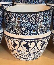 Disney Parks Indigo Icon Mickey Mouse Ceramic Stacked Bowl Mug Cup New