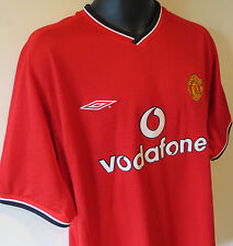 Retro 2000-02 Manchester United Football Shirt MUFC Soccer Jersey Camiseta XL