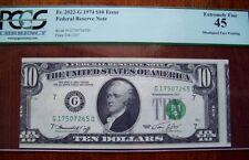 (FR.2022-G) 1974 $10 ERROR - MISALIGNED FACE PRINTING {PCGS - XF 45}