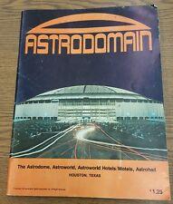1972 Astrodomain Astrodome Texas Sports Souvenir Brochure