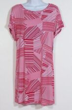 NWT DONCASTER  Women's Red & White Stretch Jersey Blouse Top 2W  2X Plus Size