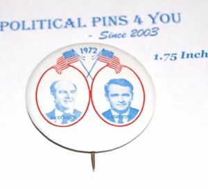 1972 GEORGE MCGOVERN EAGLETON campaign pin pinback button presidential election