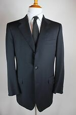 Canali Navy Blue Suit 44L (34x33) 3 Button 100% Wool Was $1995