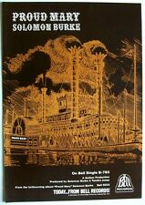 SOLOMON BURKE 1969 original poster advert PROUD MARY bell records