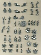 40 pewter charms  -VALUE!!    (Y14)