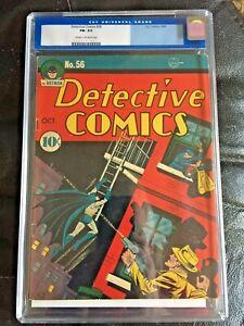 DETECTIVE COMICS #56 CGC FN- 5.5; CM-OW; Kane cover/art; Robinson art!
