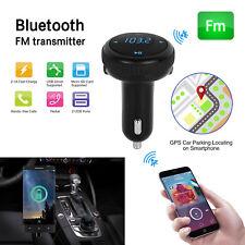 Bluetooth 4.2 car kit FM transmitter wireless radio adapter SD Slot USB charger